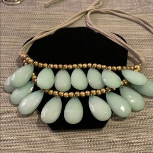 Anthropologie Green synthetic stone necklace